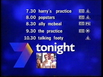 Channel Seven Perth - Lineup (20.3.2000)