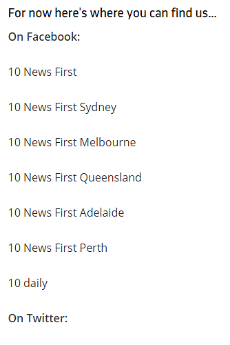 Ten News First Content and Appearance - Ten News - Media Spy